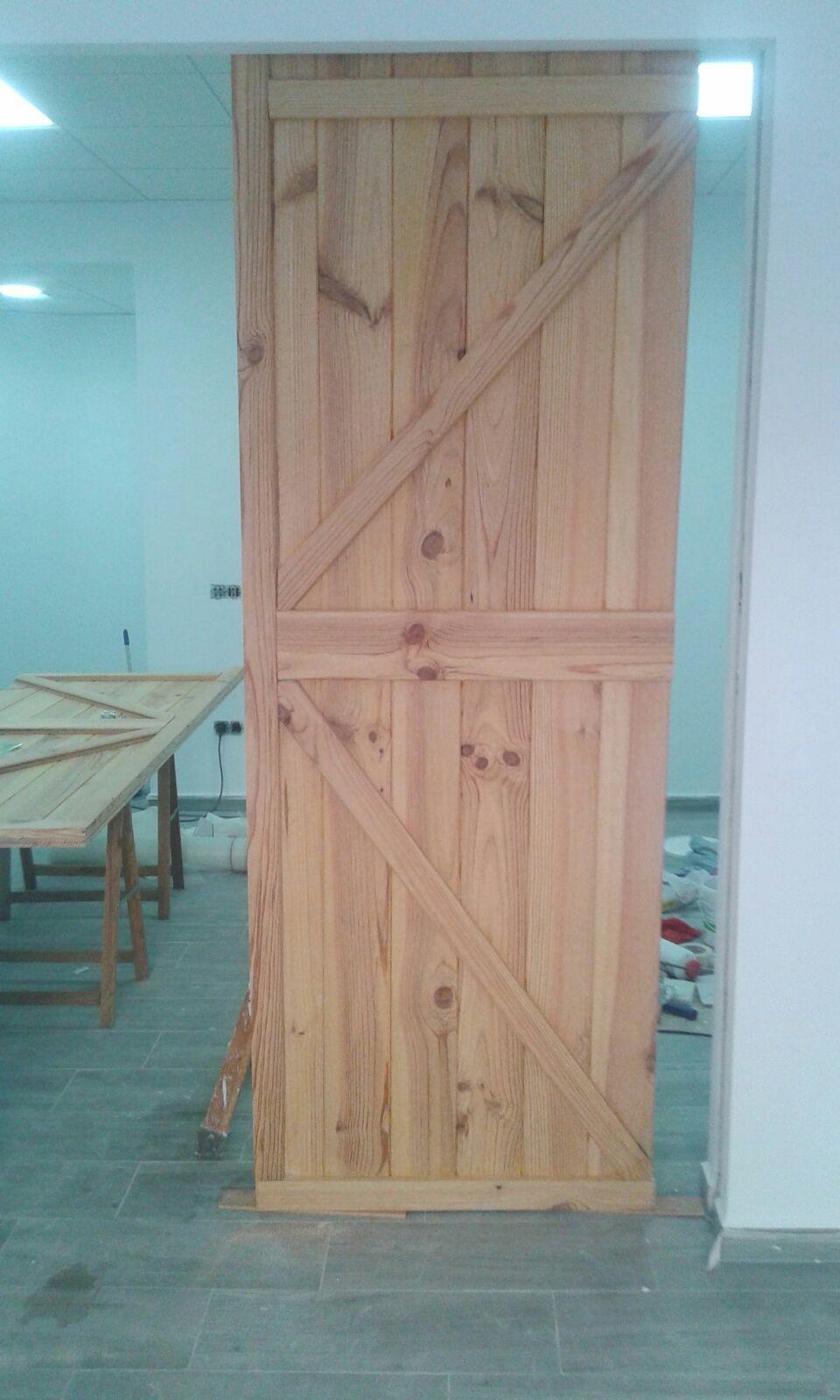 Puerta corredera de madera ceys - Puertas de corredera de madera ...
